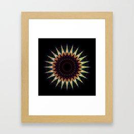 Futuristic Zen Mandala Framed Art Print