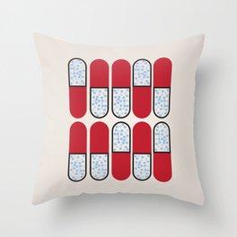 Pill Pattern Throw Pillow