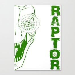 Never Cave - RAPTOR (colour) Canvas Print