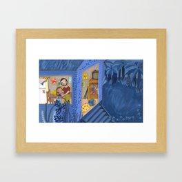 A night in blue Framed Art Print