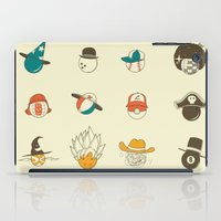 weird iPad Cases featuring Weird balls with weird hats by AGRIMONY // Aaron Thong