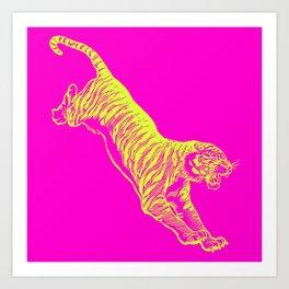 Tiger Running Art Print