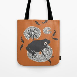 Frog on a Lily Pad Tote Bag