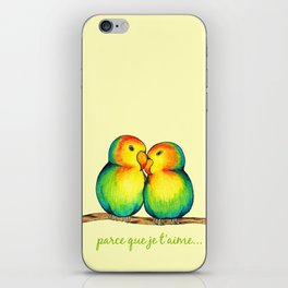 Love Birds on a Branch iPhone Skin