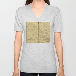 Map of Middlesex County, New Jersey (1781) Unisex V-Neck