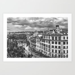 Rome Aerial Cityscape View From Campidoglio Terrace Art Print