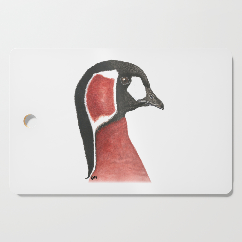 Red-Breasted Goose Cutting Board by sashaparula (DCB9962887) photo