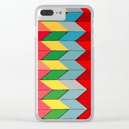 Modern art - Rainbow Fold #Terrazzo #Blobs Clear iPhone Case