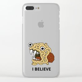 The flying spaghetti monster Clear iPhone Case