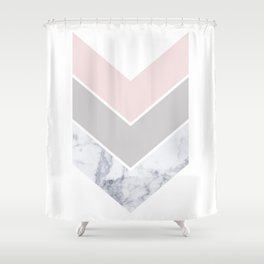 Scandinavian Marble Blush Gray Shower Curtain