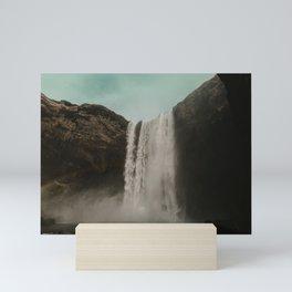 Iceland Waterfall x Skógafoss Mini Art Print