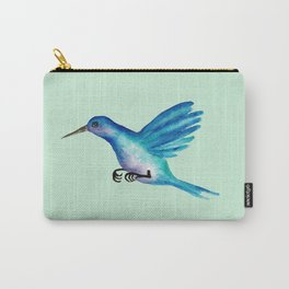 Blue Humming Bird Carry-All Pouch