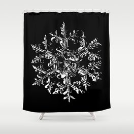 Snowflake vector - Gardeners dream black Shower Curtain