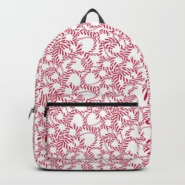 Candy cane flower pattern 4 Backpack