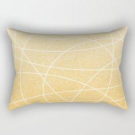 Scribble Linen - Sunflower Yellow Rectangular Pillow
