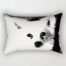 White Dog Rectangular Pillow