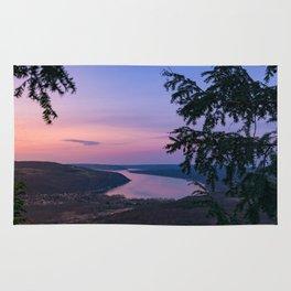 Sunset over Keuka Rug