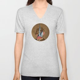 King Lui XL Collage Unisex V-Neck