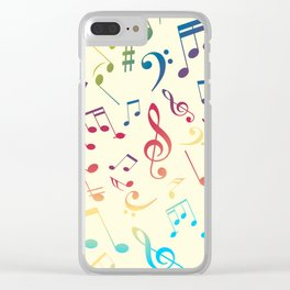 Musical Notes XII Clear iPhone Case