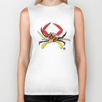 house md Biker Tanks featuring MD Crab by EBz Designs