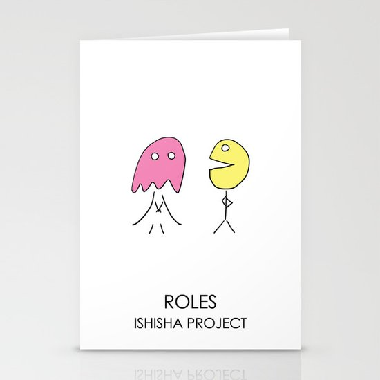 ROLES by ISHISHA PROJECT Stationery Cards