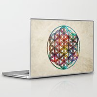 flower of life Laptop & iPad Skins featuring Flower of Life by Klara Acel