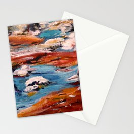 Forrest Moses Interpretation New Mexico acrylics on canvas board Stationery Cards