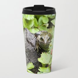 Toad with strawberries Travel Mug