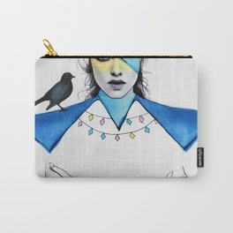 Blue Girl & Black Bird Carry-All Pouch