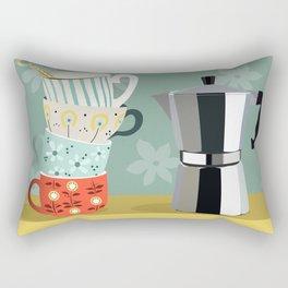 Coffee shelf Rectangular Pillow