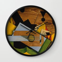 Still Life with a Guitar Wall Clock