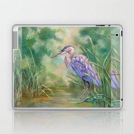 """Solitude"" - Pastel of Great Blue Heron Laptop & iPad Skin"