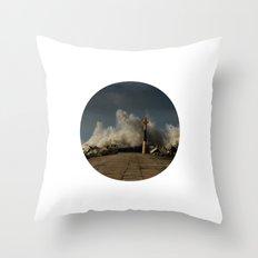 Dark Swell Throw Pillow