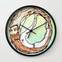 Beard Up Wall Clock