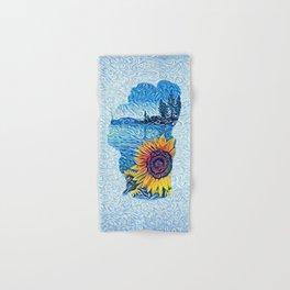 Lake Tahoe Sunflower Hand & Bath Towel