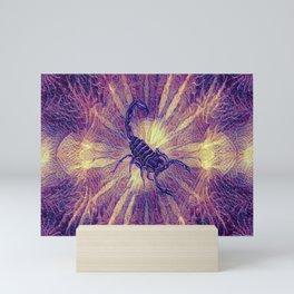 Scorpion Colorful Geometry Pattern  Mini Art Print