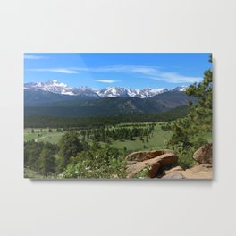 A Glorious Morning In The Rockies Metal Print