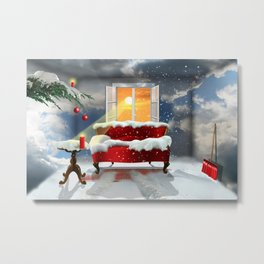 The desire for a white Christmas Metal Print