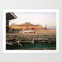Staten Island Ferry Dock Art Print