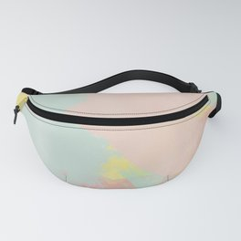 Abstract Pastel Acrylic Fanny Pack