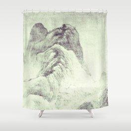 Looking back at Denjiro Shower Curtain
