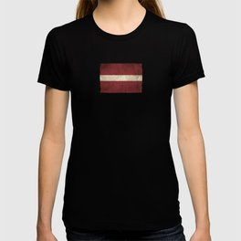 Old and Worn Distressed Vintage Flag of Latvia T-shirt