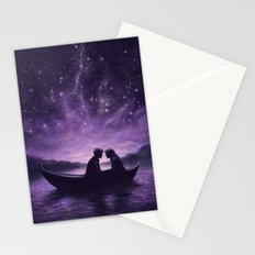 Lovers Under A Starlit Sky Stationery Cards