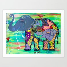 ENIGMA ELEPHANTE Art Print