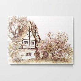 MY  LITTLE  HOUSE Metal Print