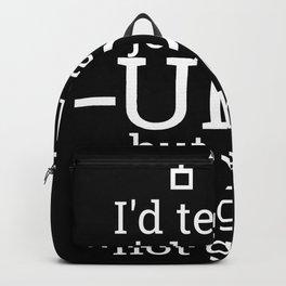 """""""UDP""""   Admin, Administrator 100153 Backpack"""