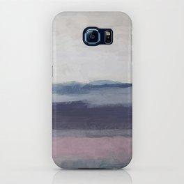 Plum Purple Navy Lavender Blue Abstract Painting Wall Art Prints, Ocean Waves Horizon, Modern Wall iPhone Case