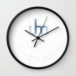 Uhmaayyze White/Blue Logo Wall Clock
