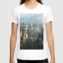 Scenic view of mountains peaks T-shirt