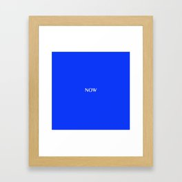 NOW GLOWING BLUE solid color Framed Art Print